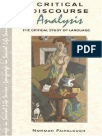 Fairclough (Critical Discourse Analysis)