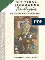 Fairclough (Critical Discourse Analysis)