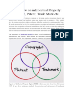 An Overview on Intellectual Property Copy Right, Patent, TradeMark Etc