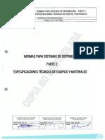 Especificaciones Técnicas de Equipos y Materiales Parte c