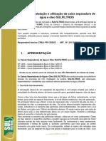 Manual Caixa Separadora de Água e Óleo