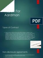 report for aardman