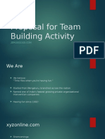Proposal for Team Building Activity
