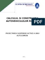 Proiectarea Suspensiei Active a Unui Autocamion