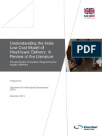 Understanding the India Low Cost Model of Healthcare Delivery 3