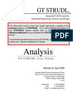 Analysis gtstrudl