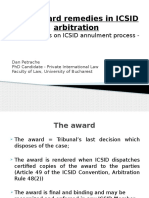 Annulment Proccess of a an ICSID Award