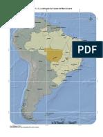 1.1.1 - Localização do Estado de Mato Grosso