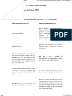 STJ - Quadro Comparativo - NCPC
