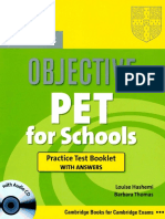 CAMBRIDGE 2010 Objective Pet for Schools