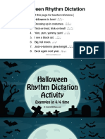 Rhythm Dictation Slides - Halloween Theme