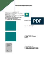 Kreiranje Novog Foldera Na Desktopu