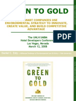Hosptiality Attorney with Daniel Esty on Green to Gold - How Smart Companies Use Environmental Strategy to Innovate, Create Value, and Build Competitive Advantage