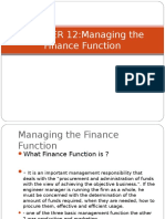 Chapter 12 Managing the Finance Function Ppt