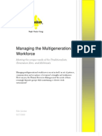 Managing the Multigenerational Workforce