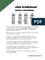 Afinación Tradicional Del Cuatro Venezolano