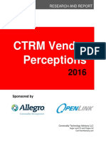 2016 Vendor Perception Report