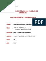 Tema Teoria Procesal y Proceso Constitucional