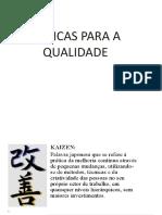 Aula IV - Tecnicas de Qualidade - 2015-2