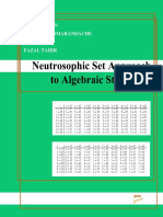 Neutrosophic Set Approach to Algebraic Structures
