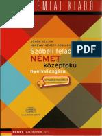 Domok.szilvia.szóbeli Feladatok Nyelvvizsgara.szoszedetes.B2