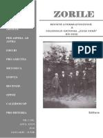 """ZORILE Revista Literar Stiintifica a Colegiului National """"Cuza Voda"""" din Husi"""