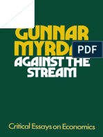 Gunnar Myrdal - Against the Stream. Critical Essays on Economics