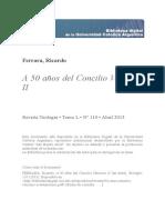 50 Anos Concilio Vaticano II Testimonios
