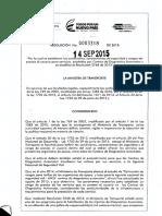 RESOLUCION 0003318-2015