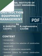 construction equipment management plan