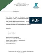 Carta Para Compromiso Con Proyecto-unicordoba