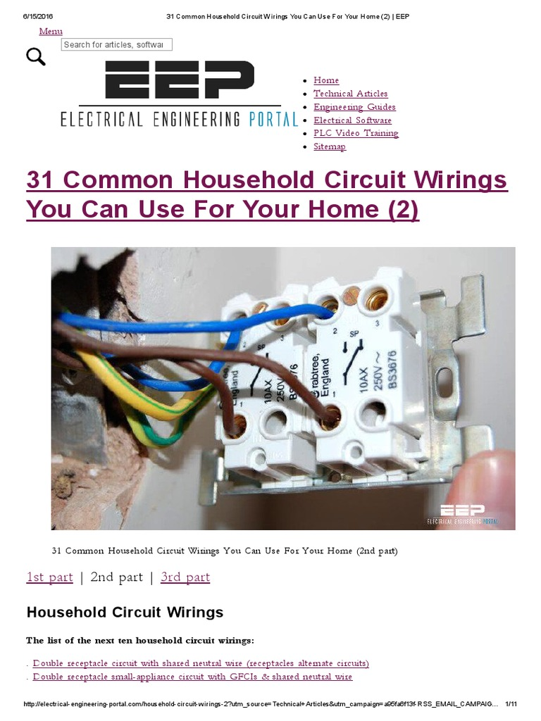 31 Common Household Circuit Wirings You Can Use for Your Home (2) _ ...