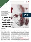 El efecto de Foucault y la crisis del marxismo en argentina
