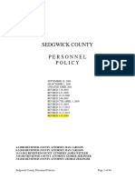 Sedgwick County Personnel Policy 2016