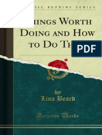 Things Worth Doing and How to Do Them 1000032258