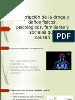 Descripción de La Droga y Daños Físicos, Psicológicos, Familiares y Sociales Que Causan
