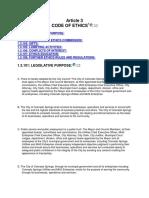 Colorado Springs Code of Ethics 2016
