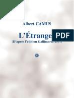 A. Camus - L'Étranger