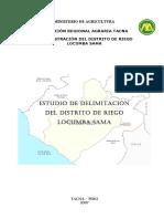 Estudio de Delimitación Del Distrito de Riego Locumba Sama