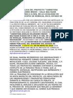 CONSULTA PÚBLICA DEL PROYECTO