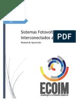 Manual de Operacion Del Sistema Fotovoltaico Interconectado