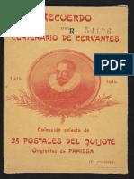 Recuerdo del Centenario de Cervantes 1616-1916.