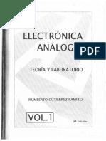 ELECTRONICA ANALOGA Profesor Humberto Gutierrez