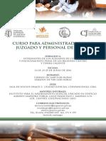 CURSO PARA ADMINISTRADORES DE  JUZGADO Y PERSONAL DE APOYO