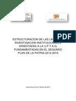 Estructuracion de Las Lineas de Investigacion Institucionales