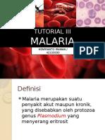 Tutorial III Malaria