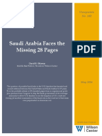 Saudi Arabia Faces the Missing 28 Pages