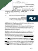 Affidavit for arrest warrant