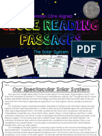 close reading - the solar system
