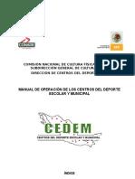 Manual de Operacion para centros deportivos